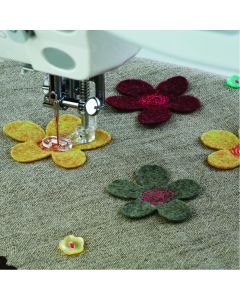 Janome Embroidery/Darning Foot (Closed - Plastic) - Cat B
