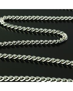 Silver Plated Steel Chain