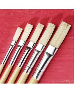 Specialist Crafts Essentials Short Handled Hog Flat Brushes