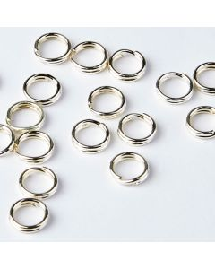 Split Rings - 5mm - Silver Plated