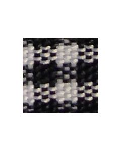 Checked Ribbon 10mm x 5 Metre Roll - Black