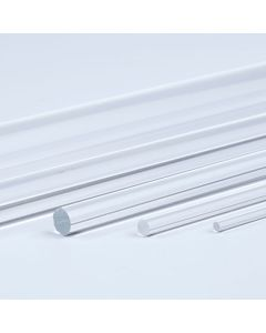 Clear Round Acrylic Rods - 1m