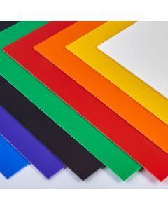 Coloured High Impact Polystyrene Sheets - 610 x 457mm