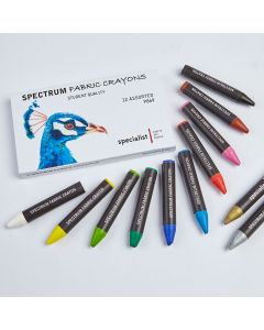 Spectrum Fabric Crayons. Pack of 12.