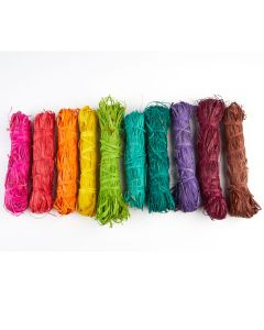 Coloured Natural Raffia Assortment