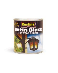 Rustins Satin Black Paint - 500ml